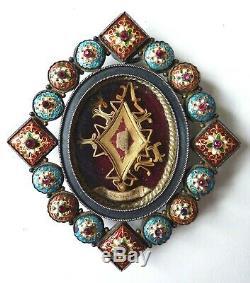 Reliquaire Émaux Bressans Argent relique Sainte Marguerite 19e silver reliquary