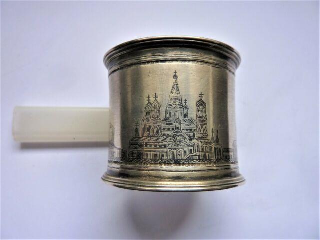 Rond Serviette Argent Russie Moscow 1873 Silver Napkin Ring Art De La Table