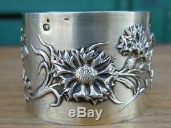 Rond de Serviette Art Nouveau en Argent Massif Vermeil Silver Silber Jugendstil