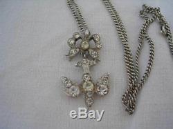 SAINT ESPRIT médaillon pendentif Argent massif pierre blanche silver SPIRIT Rare