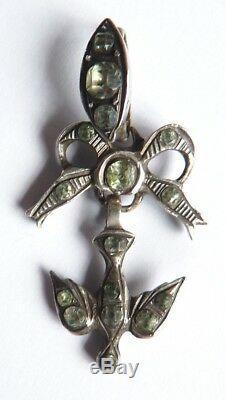 SAINT ESPRIT pendentif argent massif + strass 19e silver holly st spirit