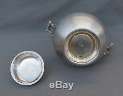 SUCRIER EN ARGENT MASSIF MINERVE STYLE EMPIRE silver sugar bowl