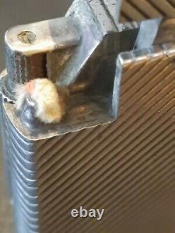 SUPERBE Briquet essence DUNHILL ARGENT MASSIF lighter petrol DUNHILL SILVER RARE