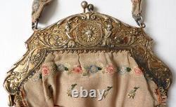 Sac bourse monture ARGENT 18e 19e s ange angelot Hanau Dingeldein silver bag
