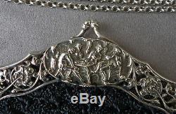 Sac de Soirée Monture Argent Massif Hollandais de 1910 Dutch Silver