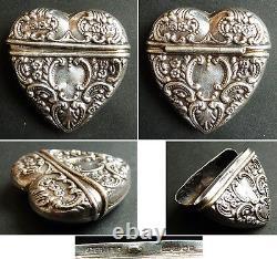 Sacré Coeur boite argent massif silver sacred heart luktevannshus vinaigrette