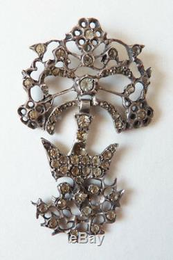 Saint-Esprit argent massif 19e s Bijou régional Normandie silver holly spirit