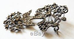 Saint-Esprit argent massif 19e siècle broche Bijou régional silver Holly Spirit
