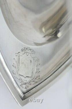 Saucière Casque À Guirlande En Argent Premier Coq / Silver Sauce Empire Time