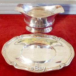 Saucière argent massif minerve orfevre Savary 830 grammes silver sauceboat