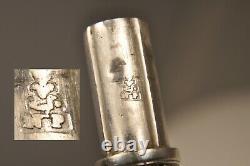 Sceau Ancien Etui A Cire Argent Armoiries Silver Georgian Wax Seal Coat Of Arms
