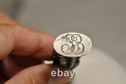 Sceau Cachet Ancien Argent Massif Napoleon Bonaparte Antique Solid Silver Seal