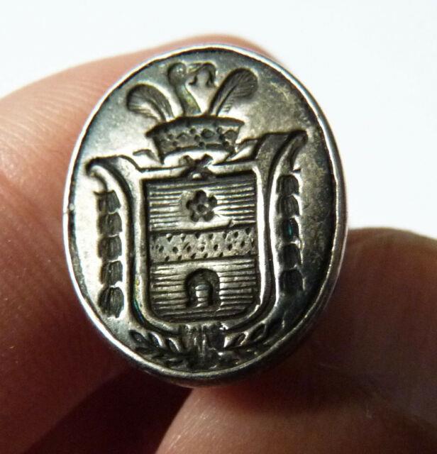 Sceau Cachet En Argent 19e Siècle Armoiries Blason Silver Seal Favre D'echallens