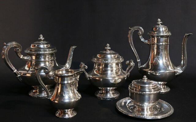 Service à Thé Et Café Argent Massif / Tea And Coffee Set Sterling Silver