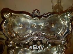 Service argent massif Huile, vinaigre Louis XV Minerve, oil solid silver
