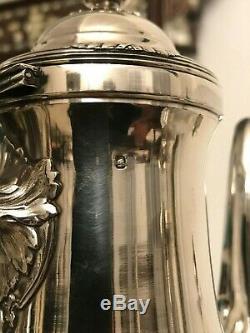 Service café thé argent massif minerve orfèvre Lefebvre fils ainé silver 2kg