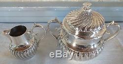 Service thé café argent massif minerve 4 pièces 1684 grammes silver tea coffee
