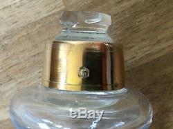 Silver Bedside Decanter Carafe Service Verre D'eau De Nuit Cristal Argent Massif