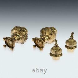 Silver gilt Sugar Casters Pair Early Edwardian / Saupoudréses argent Vermeil