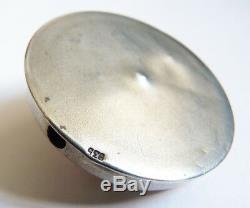 Sonnette de table argent massif et émail vers 1920 Art Deco silver enamel bell