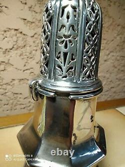 Soupoudreuse Argent Anglais Antique Sterling Silver Sugar Caster Nathan & hayes