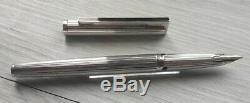Stylo plume Waterman DG Godron argent massif silver sterling FP Neuf NOS