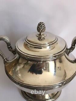 Sucrier Argent Massif ODIOT Louis XVI / silver sugar bowl. 436 Grs
