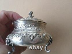 Sucrier-Argent Massif-POINÇONS Minerve-style Louis XV- silver
