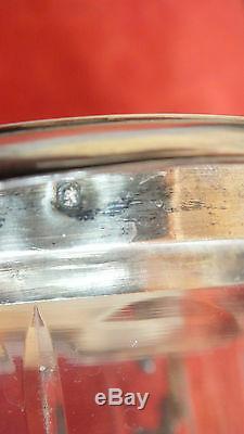 Sucrier argent massif minerve cristal sugar pot crystal silver