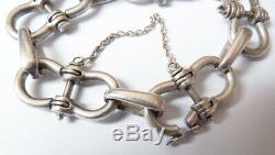 Superbe bracelet en argent Gaetan DE PERCIN Bijou bracelet silver Hermes 73 gr
