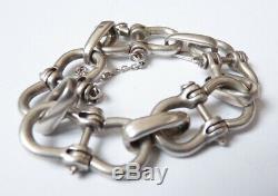 Superbe bracelet en argent Gaetan DE PERCIN (Hermes) Bijou silver 73 gr