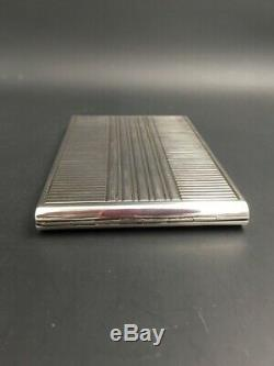 Superbe étui à cigarettes argent massif Art Déco / Large silver cigarette case