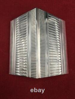 Superbe étui à cigarettes argent massif Art Déco Sterling silver cigarette case