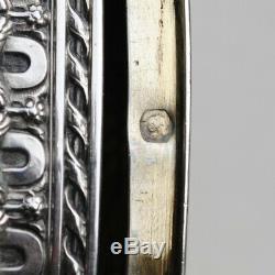 TABATIERE / BOITE A PILULES ARGENT MASSIF LOUIS XVI FLEURS Sterling Silver Box