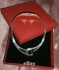 TAXCO Collier ras du cou choker design SILVER 925 argent massif & Onyx 97 gr
