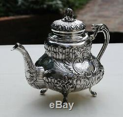 THEIERE ARGENT MASSIF ROCAILLE LOUIS XV XIXè Sterling Silver Tea Pot 892 grams