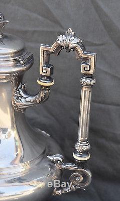 THEIERE EN ARGENT MASSIF MINERVE STYLE LOUIS XVI silver coffee pot orf Flamant