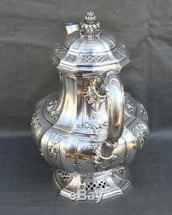 THEIERE VERSEUSE ARGENT MASSIF MINERVE STYL ROCAILLE LOUIX XV silver tea pot
