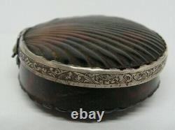 Tabatiere XVIII Eme Coquille Saint Jacques Argent Antique Silver Snuffbox