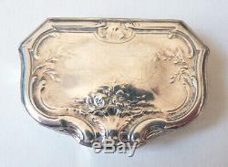 Tabatière boite en argent massif Minerve 19e siècle silver box HENIN