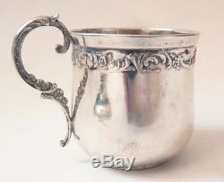 Tasse et sous-tasse ARGENT en massif Minerve silver cup 80 gr