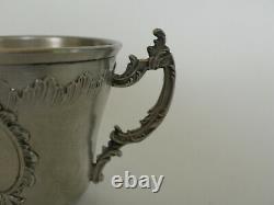 Tasse et sous tasse argent massif Minerve joli modèle rocaille Louis XV silver