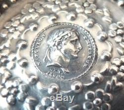 Taste-vin tastevin tatevin ancien ARGENT massif Napoléon 1er An XIII silver