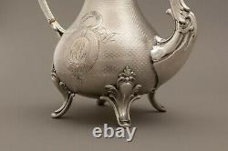 Théière Argent Massif Minerve 483g Silver Tea pot 19th