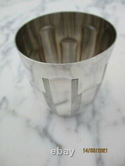 Timbale gobelet argent massif art deco Marie silver goblet