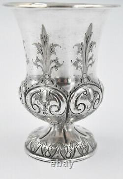 Timbale sur piedouche XVIII / XIX ème ARGENT MASSIF (french silver cup)