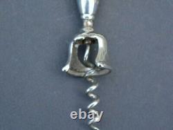 Tire bouchon Vintage corkscrew argent massif (usa sterling silver decapsuleur)