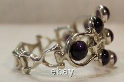 Toulhoat Bracelet 9 Amethystes Argent Massif Bretagne Cetique Silver