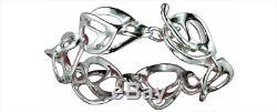 Toulhoat Bracelet Chaîne 2 Elements Argent Massif Silver Bretagne Celtique
