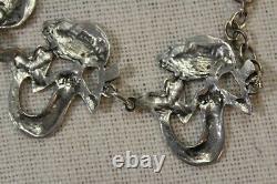 Toulhoat Bracelet Cinq Petites Sirenes Argent Massif Bretagne Celtique Silver